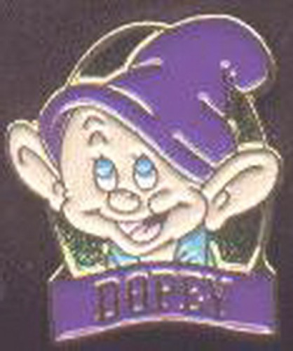Dopey Head Pin Display Card Disney Snow White And The 7 Dwarfs Pin