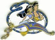 Disney Aladdin & Jasmine magic carpet Never Sold Pin