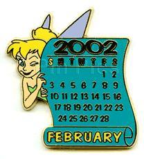Disney Tinkerbell Calendar Series Pin/Pins