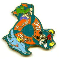 Snow White's Dopey, Dumbo, Mickey Japan Pin/Pins