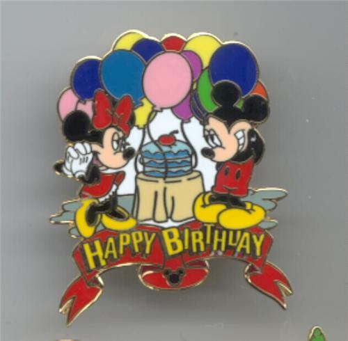Disney Mickey & Minnie Happy Birthday Pin/pins