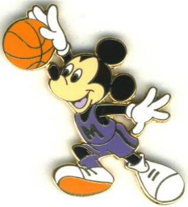 disney mickey mouse basket ball pinpins