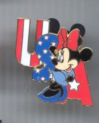 Disney Minnie Mouse USA  Lanyard  Pin/Pins