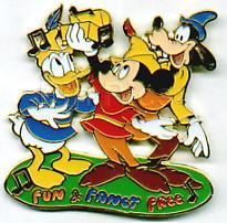 Disney  Goofy Donald Mickey Musical Moments  Pin/Pins