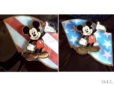 Disney USA Flag Mickey Mouse Flag Lenticular 3d Pin