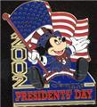 Disney Mickey Patriotic USA Presidents Dag Flag Pin