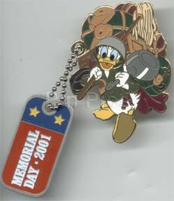 Disney Donald Duck Soldier With Dog Tags Pin Pins Toys By Stacy