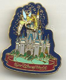 Disney WDW - Tinkerbell Castle Slider  Pin/Pins