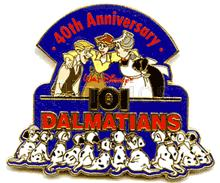 Disney 40th Anniversary 101 Dalmatians LE Pin/Pins