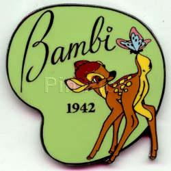 Disney Bambi and butterfly dated 1942 Pin/Pins