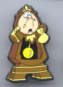 Disney Beauty & the Beast Cogsworth  pin/pins