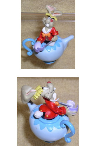Disney  Alice In Wonderland teapot miniature rare Nice