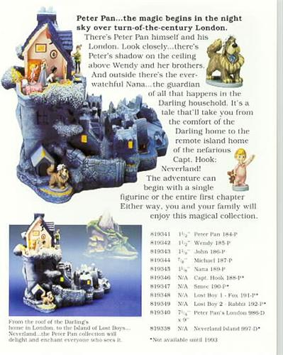 Disney  Goebel Miniature Peter Pan Brochures