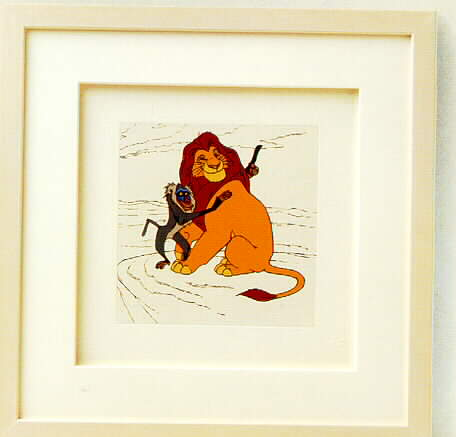Disney  Mufasa & Rafiki Monkey Lt. Ed. Framed  Art