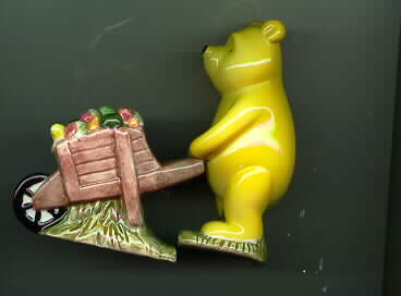 Disney  Winnie The Pooh Wheel Barrel  - Salt & Pepper