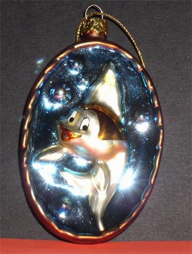 Disney Cleo the fish from Pinocchio Cute blown Glass