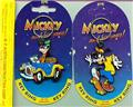Disney Goofy Car Racing & Roller blading 2 Key Chains