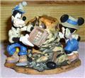 Disney Goofy, Mickey, Pluto dinosaur  Clock Figurine