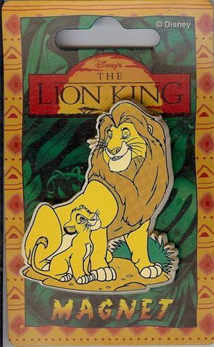 Disney Lion King Simba & Mufasa Magnet Rare