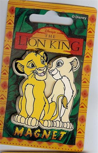 Disney Lion King Simba & Nala Magnet Rare