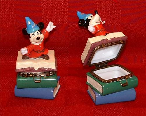 Disney Mickey Sorcerer  Porcelain Hinged Box Figurine