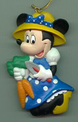 Disney Minnie Mouse blue dress  bonnet ornament Cheap