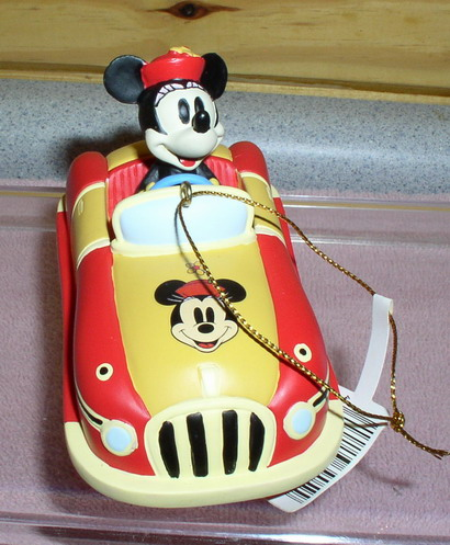 Disney Minnie Mouse Hot Rod yellow Car Rare