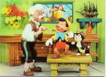 Disney Pinocchio from 1966 rare 3d Lenticular Print