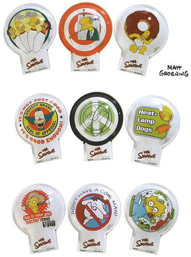Simpsons  Krusty the clown set of 9 Tin clicker Toys.