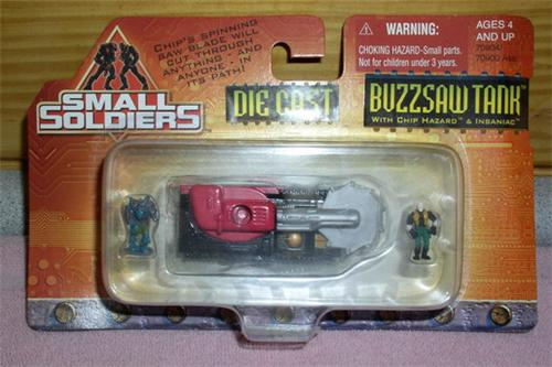 Small Soldiers Die Cast Buzz saw Tank Mint On Car