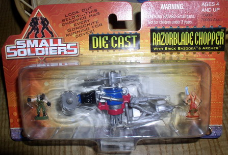 Small Soldiers Die Cast Razorblade Chopper Mint On Car