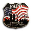 9/11  PAPD Twin Towers Lapel USA Flag Pin/Pins Badge