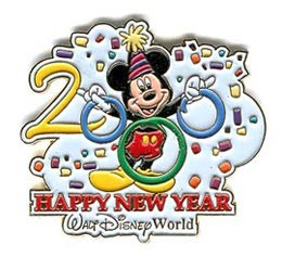 Disney WDW - Happy New Year 2000 Mickey pin/pins
