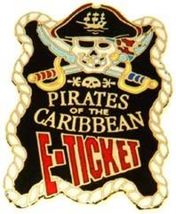 Disney WDW Pirates Of The Caribbean E-Ticket  Pin/Pins