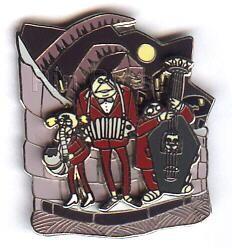 Disney Nightmare Before Christmas Band/Vampire 3D  Pin