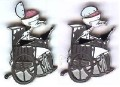 Disney Scientist  Dr. Finklestein wheelchair Hinged Pin