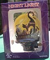 Black Cat with flying bats Night  Light Halloween