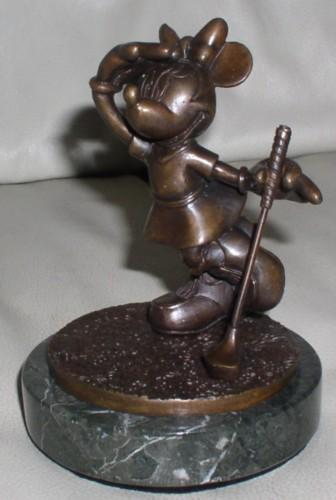 Disney Minnie Mouse Golf Bronze What Birdie