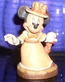 Disney Minnie Mouse with umbrella  Anri  Woodcarving