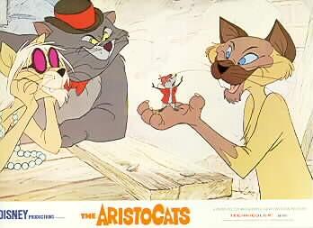 Disney Aristocats Walt Disney Productions  Lobby Card