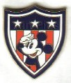 Disney Mickey Shield Americana Flag patriotic pin/pins