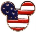 Disney USA Mickey Head Flag Icon Flag pin/pins