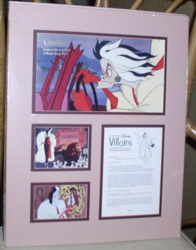 Disney Villain Cruella De Vil  Cast member Lithograph