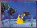 Disney Beauty & Beast  Commemorative Gold Seal Litho
