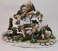 CAPODIMONTE Old Man witrh Dogs Laurenz Classic Sculpture Italy