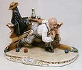 CAPODIMONTE  Playing Bocce by Enzo Arzenton Italy Laurenz Classic Sculpture