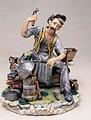 CAPODIMONTE The Coppersmith by Enzo Arzenton Laurenz Classic Sculpture Italy
