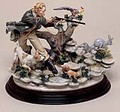 CAPODIMONTE The Hunter by Enzo Arzenton Laurenz Classic Sculpture Italy