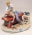 CAPODIMONTE Chiropractor by Enzo Arzenton Laurenz Classic Sculpture Italy