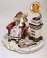 CAPODIMONTE Grandmother with Gramaphone  Laurenz Classic Sculpture Italy